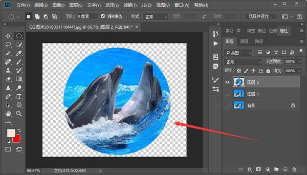 教你用Photoshop软件把照片裁剪成圆形  photoshop 第4张