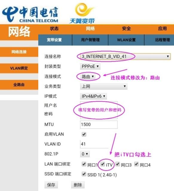 中国电信光猫百兆口、iTV口改上网Lan口  第5张