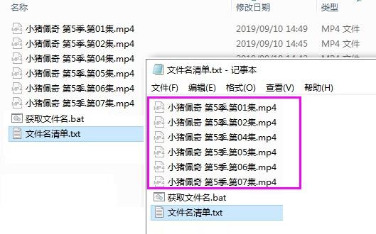 [Windows] 通过bat批量提取文件夹内所有文件的文件名  文件名 提取 批量 第3张