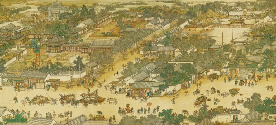 台北故宫藏完整《清明上河图》TIF高清版  第1张