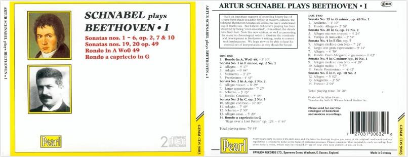 贝多芬32首钢琴奏鸣曲全集(施纳贝尔)11CD合集Flac  贝多芬 钢琴 古典 第1张