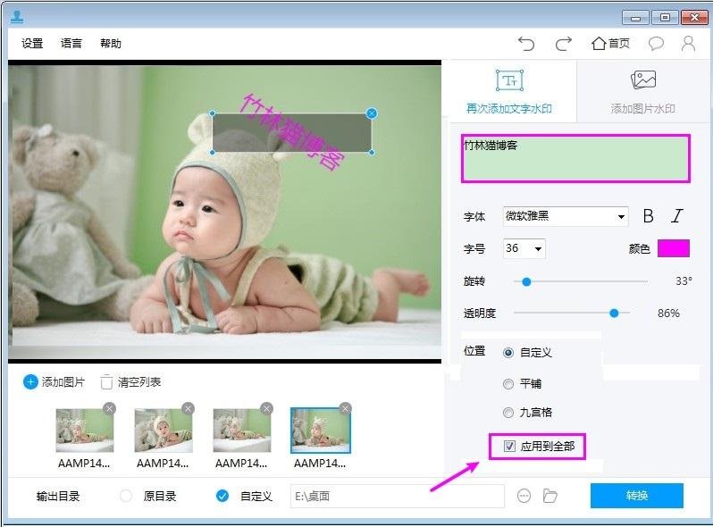 [Windows] 一款给图片和视频批量添加文字/图片水印的工具  水印 第4张