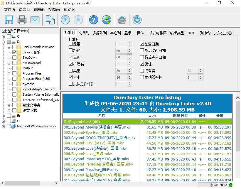 [Windows] 专业文件列表创建打印工具Directory Lister Enterprise  第2张