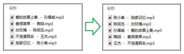 MP3音乐文件名,怎么把歌手和歌名的前后位置快速调换?  工具 第2张