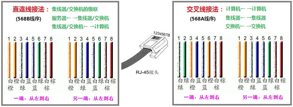 RJ45网线水晶头排线及制作方法  网络 第1张