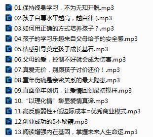 樊登读书会演讲精华音频合集[MP3/26.48MB]百度云下载  广播剧 第2张