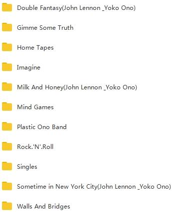 约翰列侬(John Winston Lennon)10张无损专辑合集[FLAC/4.20GB]百度云下载  男歌手 第2张