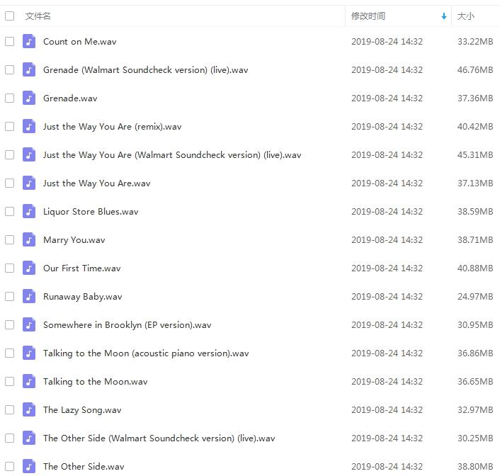 火星哥(Bruno Mars)3张专辑无损歌曲合集[WAV/1.29GB]百度云下载  男歌手 第2张
