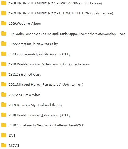 Yoko Ono小野洋子(1968-2010)歌曲合集+部分视频合集[MP3/AVI/4.13GB]百度云下载  女歌手 第2张
