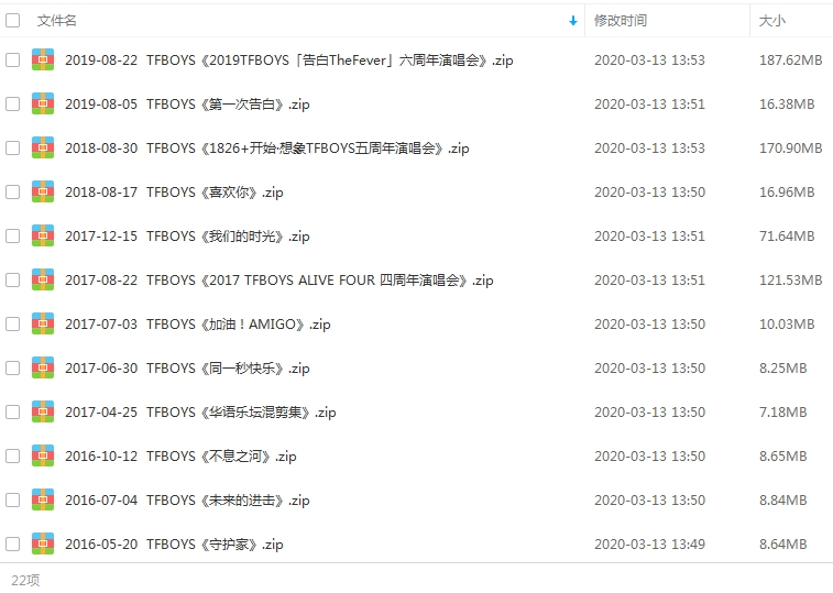 TFBOYS组合(2013-2019年)22张专辑/单曲/歌曲合集打包[MP3/859.32MB]百度云下载  乐队 第2张