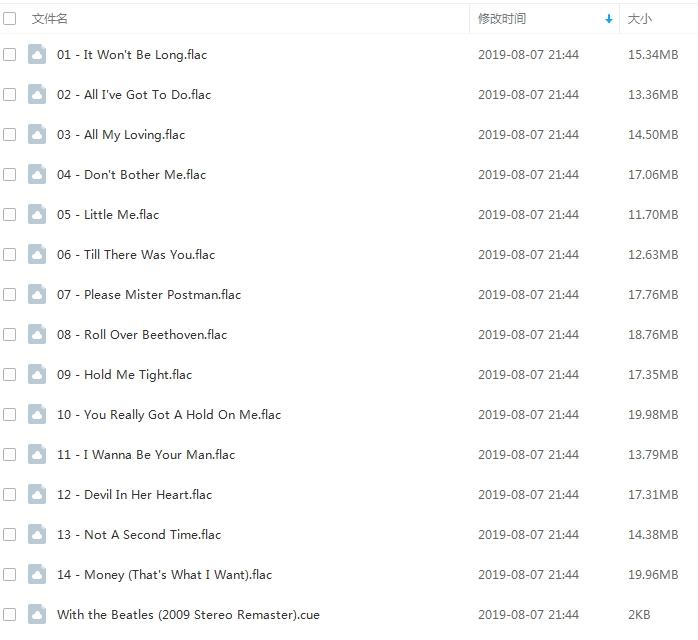 The Beatles(甲壳虫乐队)所有无损歌曲专辑合集打包[APE/FLAC/11.65GB]百度云网盘下载  乐队 第3张