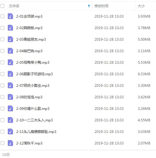 《巧虎儿歌》巧虎系列113首歌曲合集打包[MP3/337.64MB]百度云网盘下载  乐队 第2张