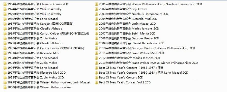 维也纳新年音乐会35张专辑53CD音乐合集[MP3/7.50GB]百度云网盘下载  纯音乐 第2张