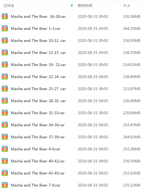 《玛莎和熊》动画全45集高清英语无字视频合集[MP4/3.49GB]百度云网盘下载  动画 第2张