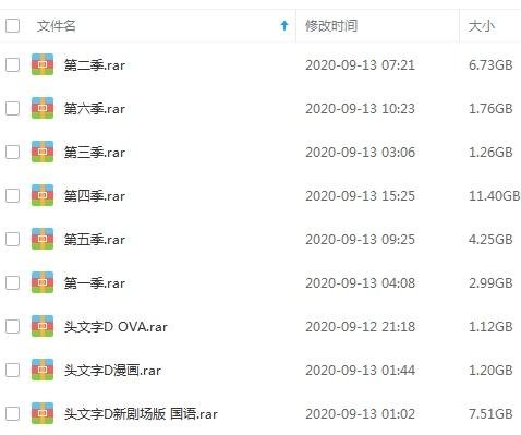 日本动漫《头文字D》6季+OVA+新剧场版+漫画)高清视频国语中文字合集[MKV/FLV/MP4/38.78GB]百度云网盘下载  动漫 第2张