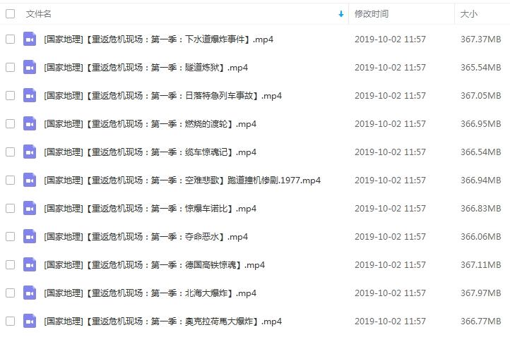 纪录片《重返危机现场》全6季高清视频英语中文字合集[MP4/MKV/AVI/29.05GB]百度云网盘下载  纪录片 第2张